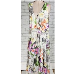 Lane Bryant Floral High Low Sleeveless Dress 18